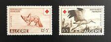 Algeria, Scott #B88-9, Red Cross -- Medicine, Birds, Fox, Animals