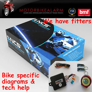 NCS COMPACT MOTORBIKE MOTORCYCLE ALARM & IMMOBILISER REMOTE CONTROL START
