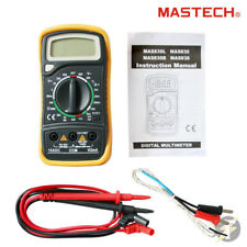 Mastech MAS838 AC DC Digital Multimeter, Leads, Thermal Probe