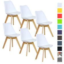 6er Set Esszimmerstühle Esszimmerstuhl Design Stühle Küchenstuhl Weiß BH29ws-6