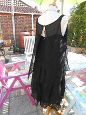 KARL LAGERFELD FOR H&M soie mousseline robe noir FAB Bouton Dos Détail Taille 16