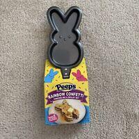Peeps 2021 Easter Bunny Shaped Pancake Skillet & Confetti Pancake Mix Set NWT