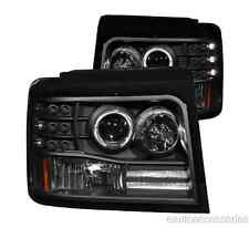 Black Projector Headlights w/Side Marker fits Ford Bronco/F150/F250 Anzo 111184