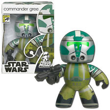 SDCC 2008 Hasbro Exclusive: Star Wars Mighty Muggs - Ep 3 COMMANDER GREE, NEW
