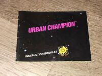 Urban Champion Instruction Manual Booklet Nintendo Nes Authentic