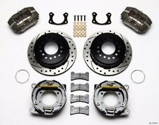 "WILWOOD Rear DISC BRAKE KIT,65-69 FORD MUSTANG,11"" Drilled Rotors,Blk Calipers '"