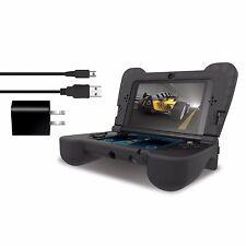 dreamGEAR New Nintendo 3DS XL Comfort Grip Case - Power Play Kit - Black