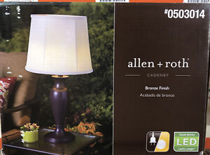 Allen + Roth Cadenby Table Lamp Bronze Finish