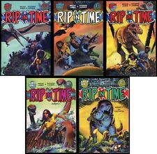 Rip in Time Comic set 1-2-3-4-5 Lot Richard Corben art Fantagor Dinosaurs Attack