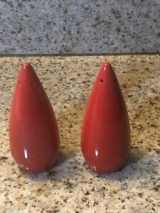 Vintage  Salt and Pepper Shakers RED Teardrop Ceramic MCM   Japan