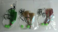 3 X SNAPPER FLASHER 2 X HOOK FISHING RIGS! 60lb MONO 6/0 CIRCLE HOOKS & LUMO