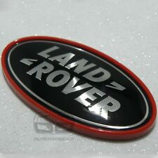 RANGE ROVER SPORT VOGUE EVOQUE RED AND BLACK SUPERCHARGED REAR BACK BADGE