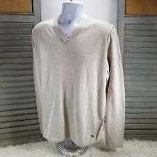 """Reyn Spooner Sweater V-Neck  in """"Natural"""" Color Men's Size Large NWT"""