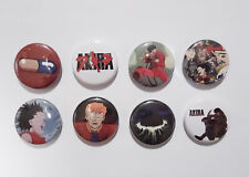 "8 1"" Akira Supernatural Power Biker Post Apocalypse Gang pinback badges buttons"