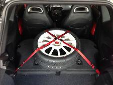 FIAT 500 / Abarth / Turbo Custom Removable Cargo Straps - RED YELLOW BLACK Nylon