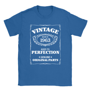 Aged To Perfection 1963 Mens T-Shirt 57th Birthday 57 Years Old Gift Top