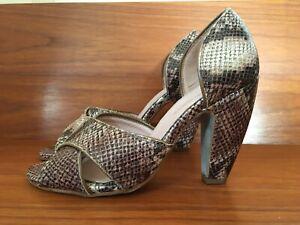 Kurt Geiger shoes 40 Snakeskin print heels animal print