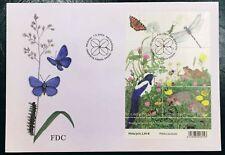 Finland FDC 2003.05.07. Summer Butterflies Birds Frogs Animals - Block