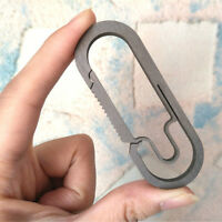 High Quality EDC Titanium Alloy Buckle Carabiner Keychain Key Ring Clip Hook US