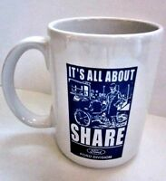 """Vtg 2002 Ford Motor Company """" It's All About Share """" Coffee Mug Cup 100 Years"""