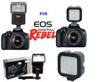VIVITAR ZOOM BOUNCE FLASH  36 LED VIDEO LIGT FOR CANON EOS REBEL T5 T5I T6 6D