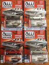 Auto World 1964 Ford Galaxie 500XL Vintage Muscle Premium 2017 Release Set of 4