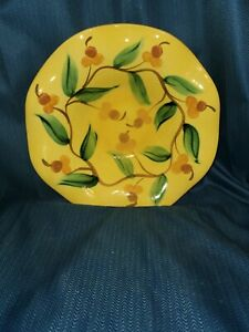 Vintage Gail Pittman Large Yellow Floral Bowl Hand painted