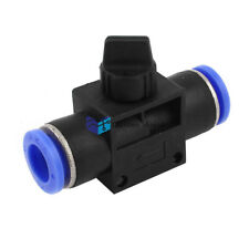 1Pc 8mm to 8mm Quick Fitting Push in Air Pneumatic Manual Valve