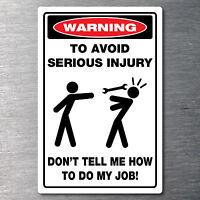 Tool box warning sticker rude funny prank 7 yr quality water & fade proof vinyl