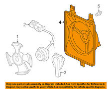 HONDA OEM 05-07 Accord Condenser-Fan Shroud 38615RCAA00