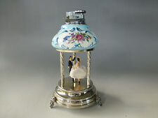 VINTAGE REUGE CAPODIMONTE TABLE LIGHTER MUSICAL DANCERS CAROUSEL (WATCH VIDEO)