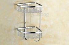 Polished Chrome Wall Mounted Bathroom Soap / Sponge Shower Storage Basket Pba525