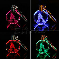 LED light Pendant Dragon Ball Dragonball Z Super Saiyajin Goku Crystal Keychain