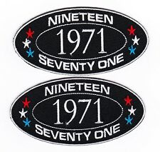 1971 SEW/IRON ON PATCH EMBROIDERED BADGE EMBLEM CHEVROLET FORD DODGE PONTIAC
