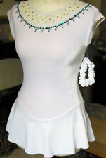 New GK COMPETITION ICE SKATING DRESS Adult XS / 11-13Yrs with Swarovski Crystals