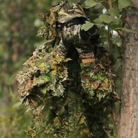 3D Ghillie Suit Set Sniper Train Leaf Jungle Forest Wood Hunting Camouflage USA