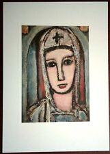 Stampa GEORGES ROUAULT Veronica Veronique Grafica Arte Edizioni Seat 1988