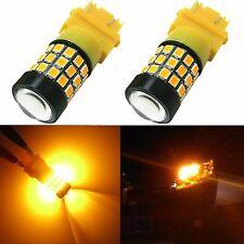 Alla Lighting 2x 39-SMD 3157 3156 Super Amber Yellow LED Turn Signa Lights Bulbs
