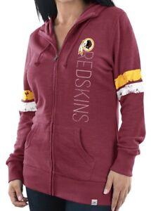 "Washington Redskins Women's Majestic NFL ""Tradition"" Full Zip Hooded Sweatshirt"