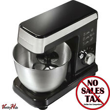 Electric Stand Mixer 6 Speed Countertop Bread Dough Cake Maker Steel Food Bowl