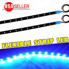 2X Flexible Car Motor High Power LED Strip Daytime Running Light Blue 120CM 12V
