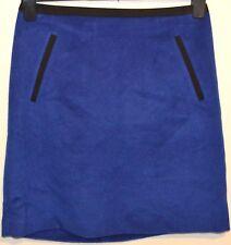 Damen m&s Collection Minirock mit Wolle Größe 8 L18 blau BNWOT