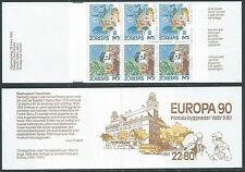 1990 EUROPA SVEZIA LIBRETTO MNH ** - VS