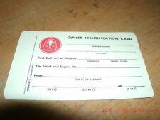 1942 1943 1944 1945 1946 Hudson Owners Identifictn Card