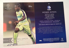 2016 Topps UEFA Champions League 5x7 GOLD (#/10 Made) MOSES SIMON #193 KAA Gent