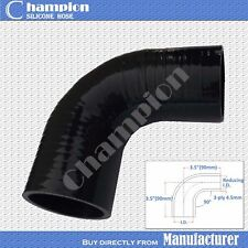 """Black 2.75"""" To 3"""" 90 DEGREE 70/76mm Silicone Hose Intercooler Coupler Pipe Turbo"""