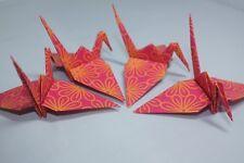 20 Origami grúas, Rosa Brillante Estilo Indio Diseño de Flores, India, Floral