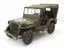 1 18 Jeep Willys Ton Army Truck Año 1942 Welly 18055h verde caqui