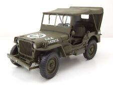 Willys Jeep Cerrado Us Army Militar 1941 Verde Oliva Coche Modelo 1:18 Welly