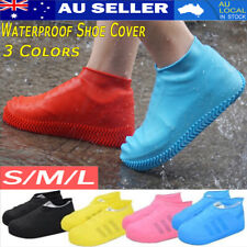 2X WATERPROOF SHOE COVER Silicone RUBBER Non Slip Rain Water Foot Boot Overshoe